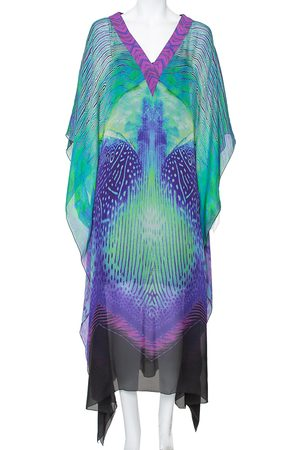 Roberto Cavalli Silk Kaftan Dress M