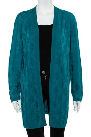 M Missoni Patterned Wool Open Front Cardigan L