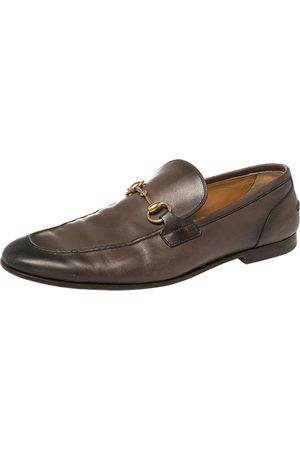 Gucci Leather Horsebit Slip On Loafers Size 43
