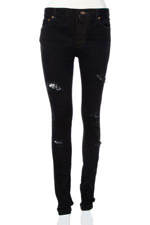 Saint Laurent Denim Skinny Fit Distressed Jeans M