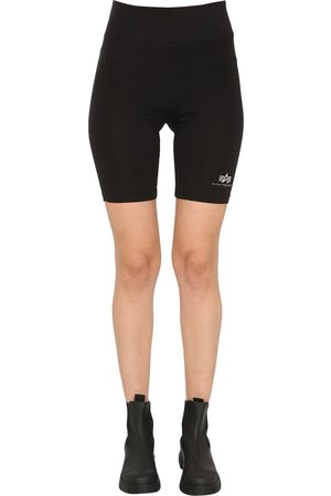 Alpha Industries Women Shorts - Cyclist shorts with logo