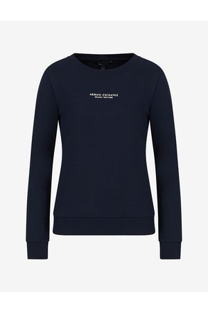 Armani Women Sweatshirts - Sweatshirt Navy Cotton, Polyester