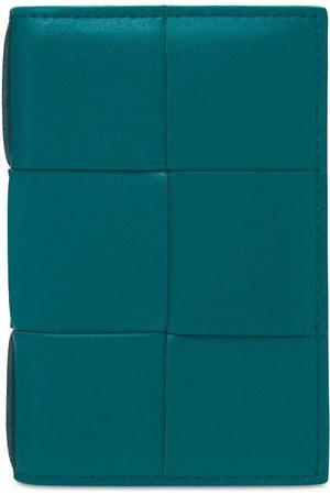 Bottega Veneta Men Wallets - Maxi Intreccio Urban Leather Card Case