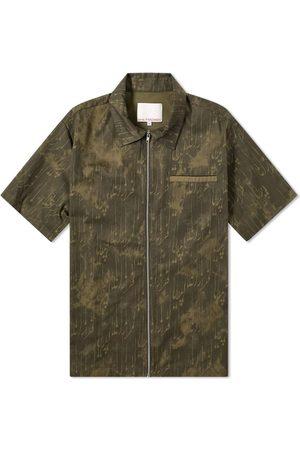 Paria Farzaneh Men Shirts - Print Zip Shirt
