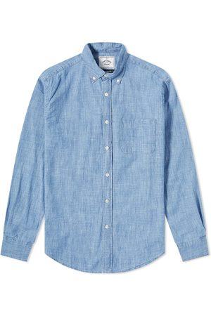 Portuguese Flannel Men Shirts - Button Down Chambray Shirt