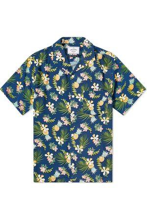 Portuguese Flannel Men Shirts - Tropical Fruit Vacation Shirt
