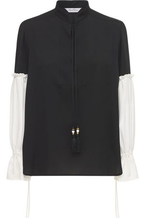 Max Mara Women Shirts - Silk Shirt W/ Balloon Sleeves