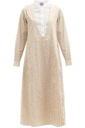 Thierry Colson Women Casual Dresses - Victoria Striped Cotton-poplin Shirt Dress - Womens