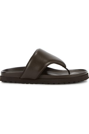 GIA X Pernille Teisbaek dark leather sandals
