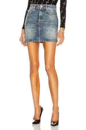 Balenciaga Mini 5 Pocket Skirt in Denim-Medium