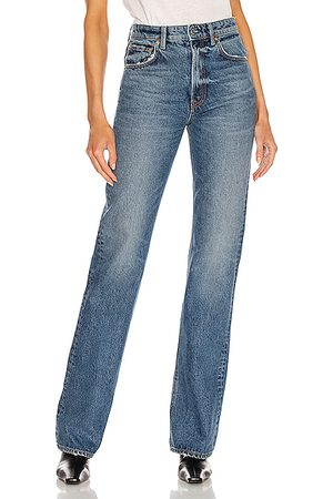 GRLFRND Women Thigh High Boots - Melanie High Rise Boot Cut in Blue