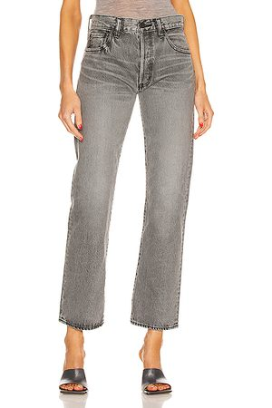 Moussy Women Boothbay Straight in Grey