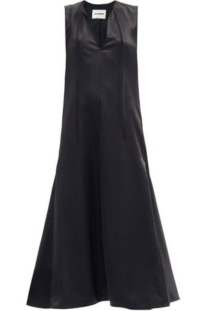 Jil Sander Godet-insert Satin Maxi Dress - Womens