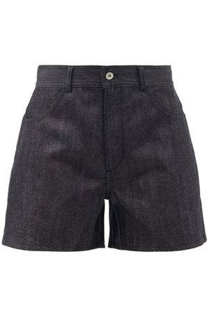 Jil Sander Women Shorts - Wide-leg Selvedge-denim Shorts - Womens - Navy
