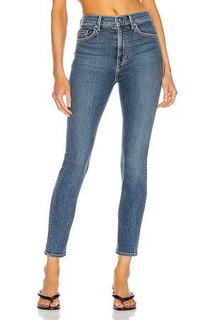 GRLFRND Women Kendall High Rise Stretch Skinny in Blue