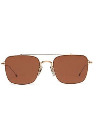 Thom Browne Aviator Metal Sunglasses - Mens