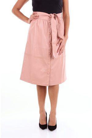 FRNCH Women Midi Skirts - Knee-length Women Rose polyester and polyurethane