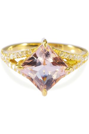 Yi Collection Women Rings - Morganite and Diamond Star Ring