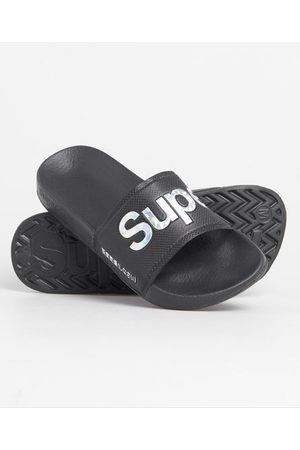 Superdry Women Sandals - Holographic Infill Pool Sliders