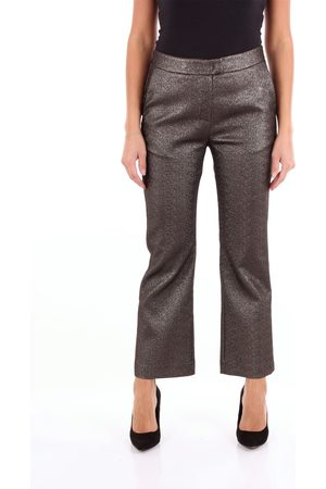 HANAMI D'OR Chino Women Bronze and polyester - cotton - metallic polyester and other fibers