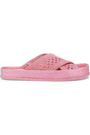 Fendi Women Flat Shoes - Stretch Lace Flats
