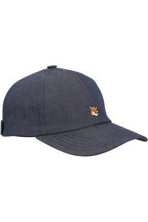 Maison Kitsuné Men Caps - Fox head embroidery cap