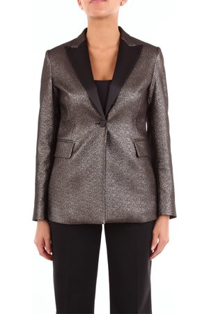 HANAMI D'OR Blazer Women Bronze and polyester - cotton - metallised polyester - other fibers