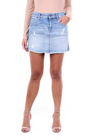 Replay Miniskirts Women Light jeans cotton - polyester and elastane