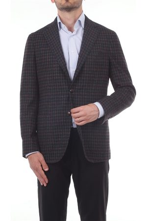BARBA Blazer Men and Wool / Polyester / Silk / Linen