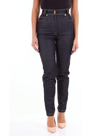 VERSACE Women Boyfriend Jeans - Boyfriend Women Dark jeans cotton and elastane