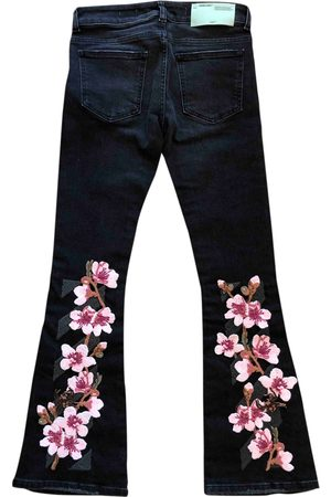 OFF-WHITE \N Cotton Jeans for Women
