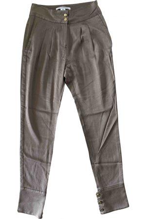 Diane von Furstenberg \N Silk Trousers for Women