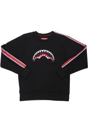 Sprayground Boys Sweatshirts - Printed Cotton Sweatshirt W/ Bands