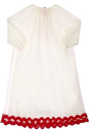 TIA CIBANI Kaia Embroidered Tulle Dress