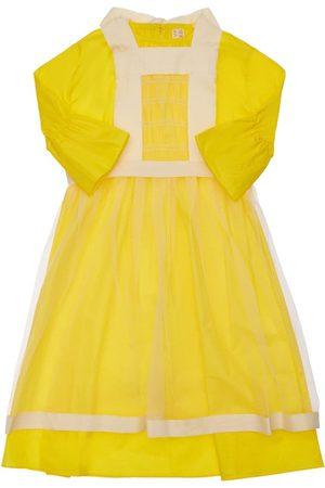TIA CIBANI Embellished Cotton Poplin Dress