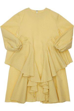 TIA CIBANI Ankara Striped Seersucker Cotton Dress