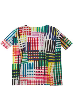 TIA CIBANI Printed Cotton Poplin Dress
