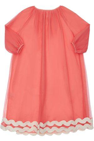 TIA CIBANI Girls Dresses - Kaia Embroidered Tulle Dress