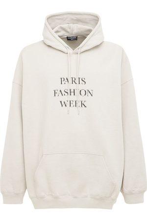 Balenciaga Men Hoodies - Paris Fashion Week Cotton Hoodie