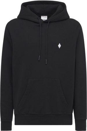 MARCELO BURLON Cross Logo Embroidery Jersey Hoodie
