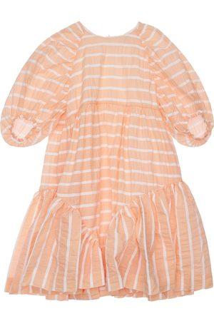 Unlabel Striped Cotton Blend Dress W/ Ruffles