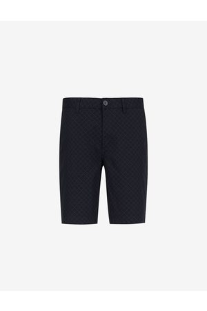 Armani Shorts Navy Cotton, Elastane
