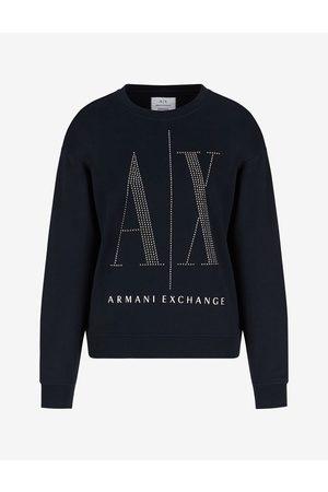 Armani Women Sweatshirts - Sweatshirt Navy Cotton