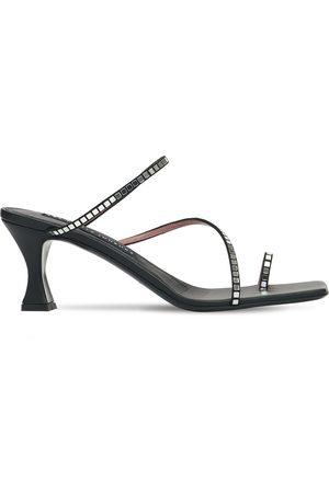 Les Petits Joueurs 70mm Amanda Embellished Leather Sandals