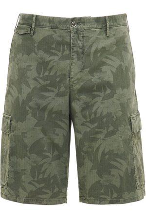 Pantaloni Torino Camo Print Stretch Cotton Cargo Shorts