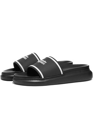 Alexander McQueen Men Sandals - Logo Pool Slide