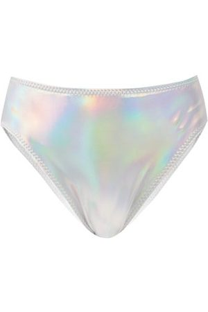 Norma Kamali High-rise Iridescent Bikini Briefs - Womens