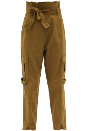 Mes Demoiselles Cartouche Paperbag-waist Cotton Trousers - Womens