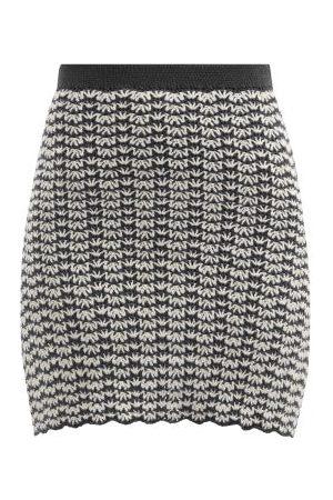 Escvdo Ana High-rise Hand-crocheted Cotton Mini Skirt - Womens - Navy
