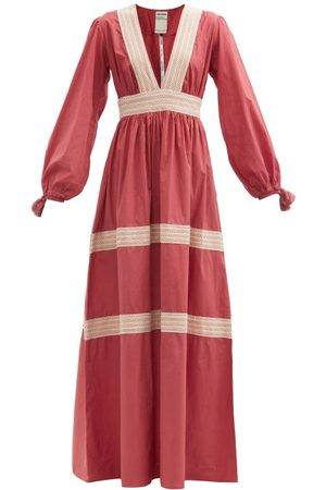 Escvdo Oli Tiered Cotton-poplin Maxi Dress - Womens - Dark